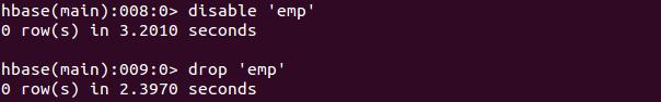 Apache HBase Shell Usage