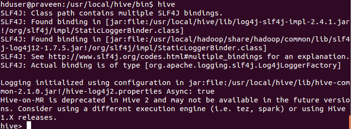 Hive Shell Commands Usage