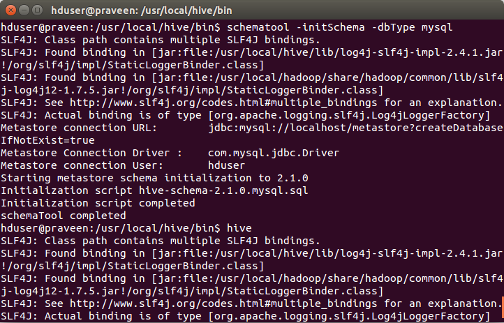 Hive Installation on Ubuntu 14 04 With MySQL Database