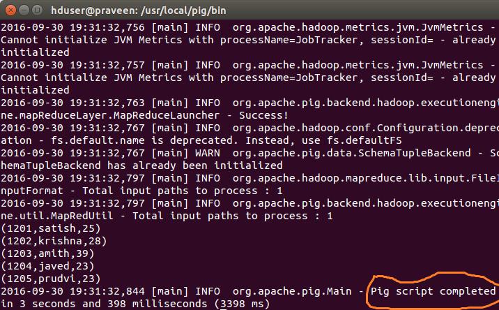 Apache Pig Script Example